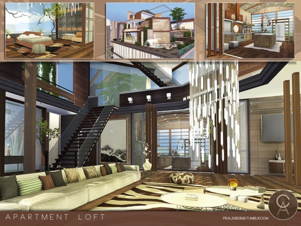 Apartment Loft by Pralinesims