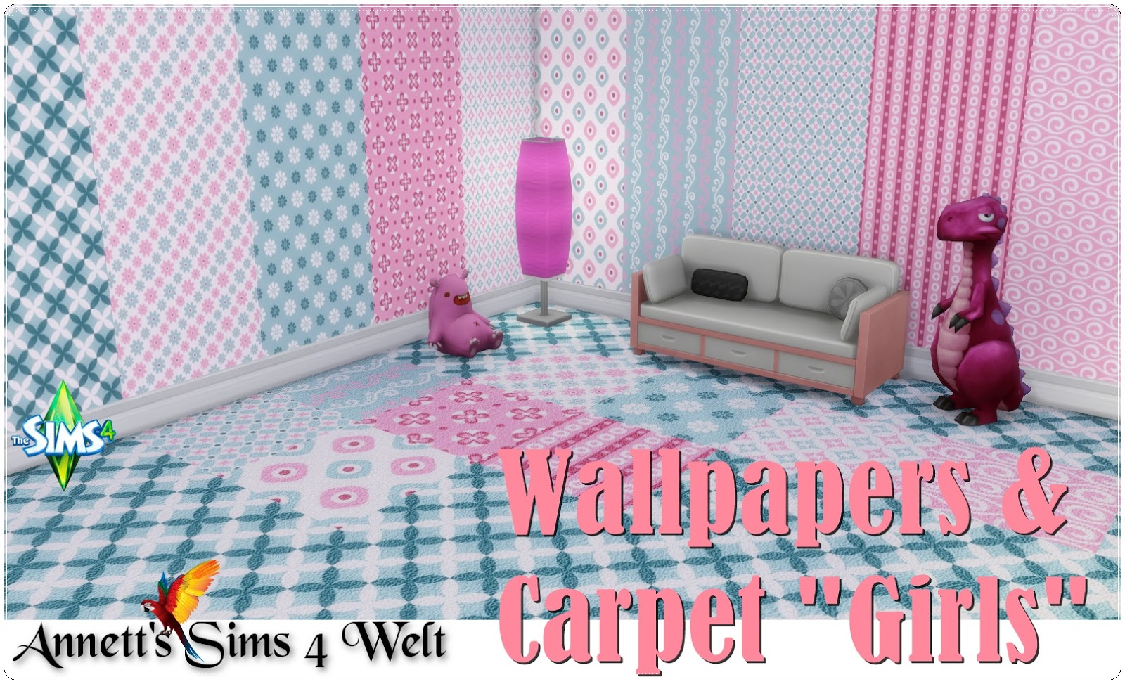 "Wallpapers & Carpet ""Girls"" by Annett85"