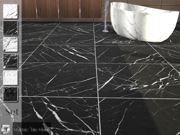 Marble Tile Floor Set by Torque