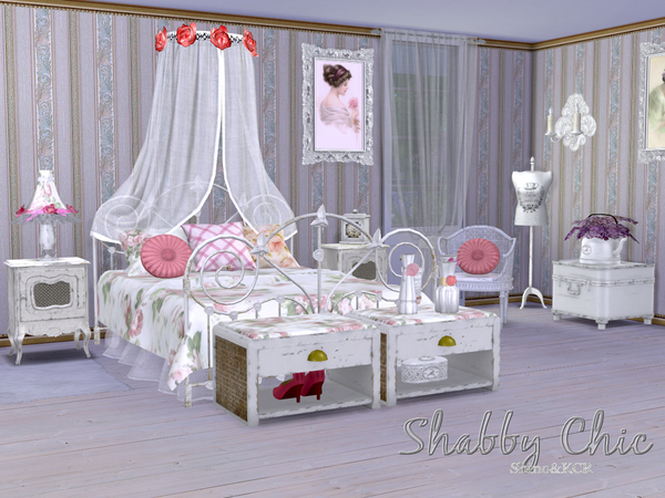 Shabby Chic Bedroom by ShinoKCR