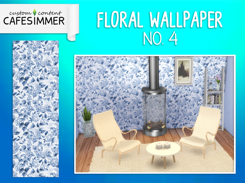 Wallpaper - Floral no. 4 by Cafesimmer
