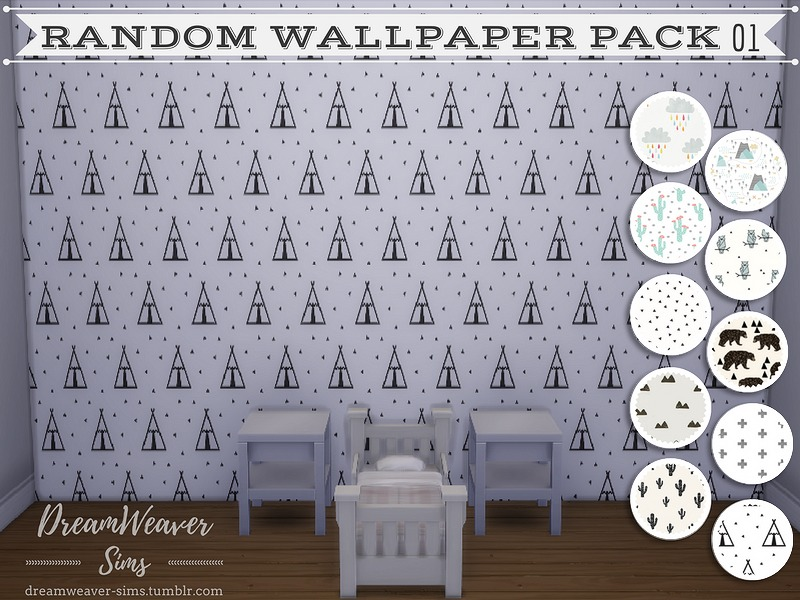 Random Wallpaper Pack 01 by DreamWeaver Sims