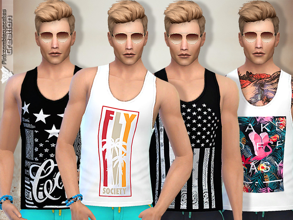 Tank Top Collection 09 Summer Time by Pinkzombiecupcakes