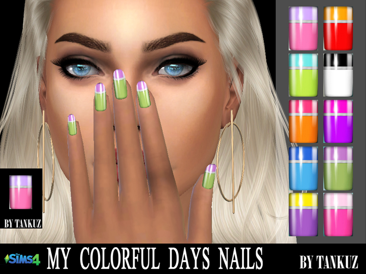 My Colorful Days Nails by Tankuz