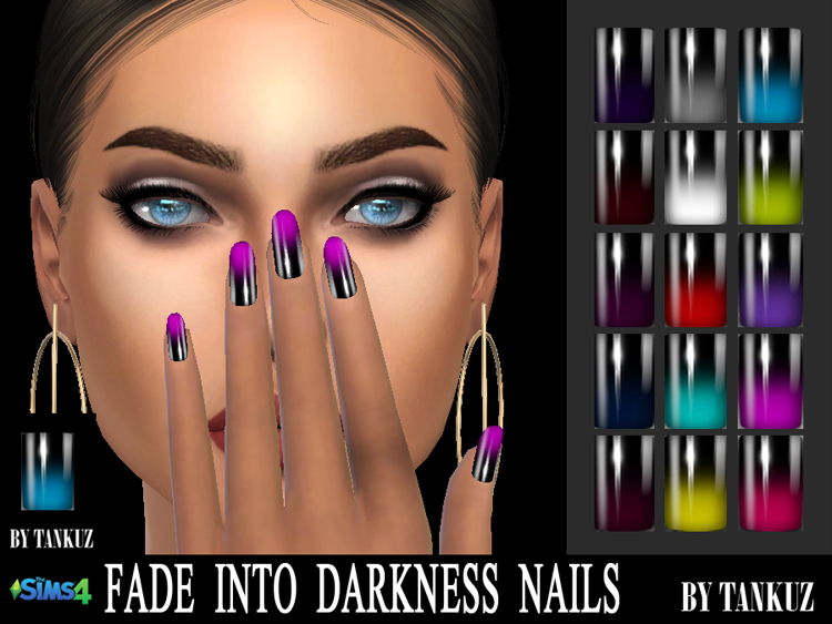 Fade Into Darkness Nails by Tankuz