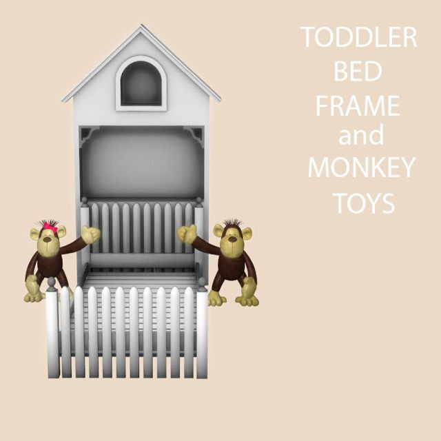 Toddler Bed Frame and Toys by Leo-Sims