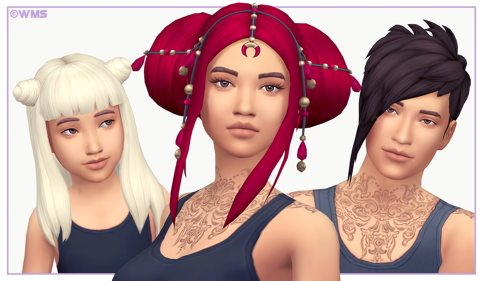 VAMPIRE HAIR RECOLOURS by Wildlyminiaturesandwich