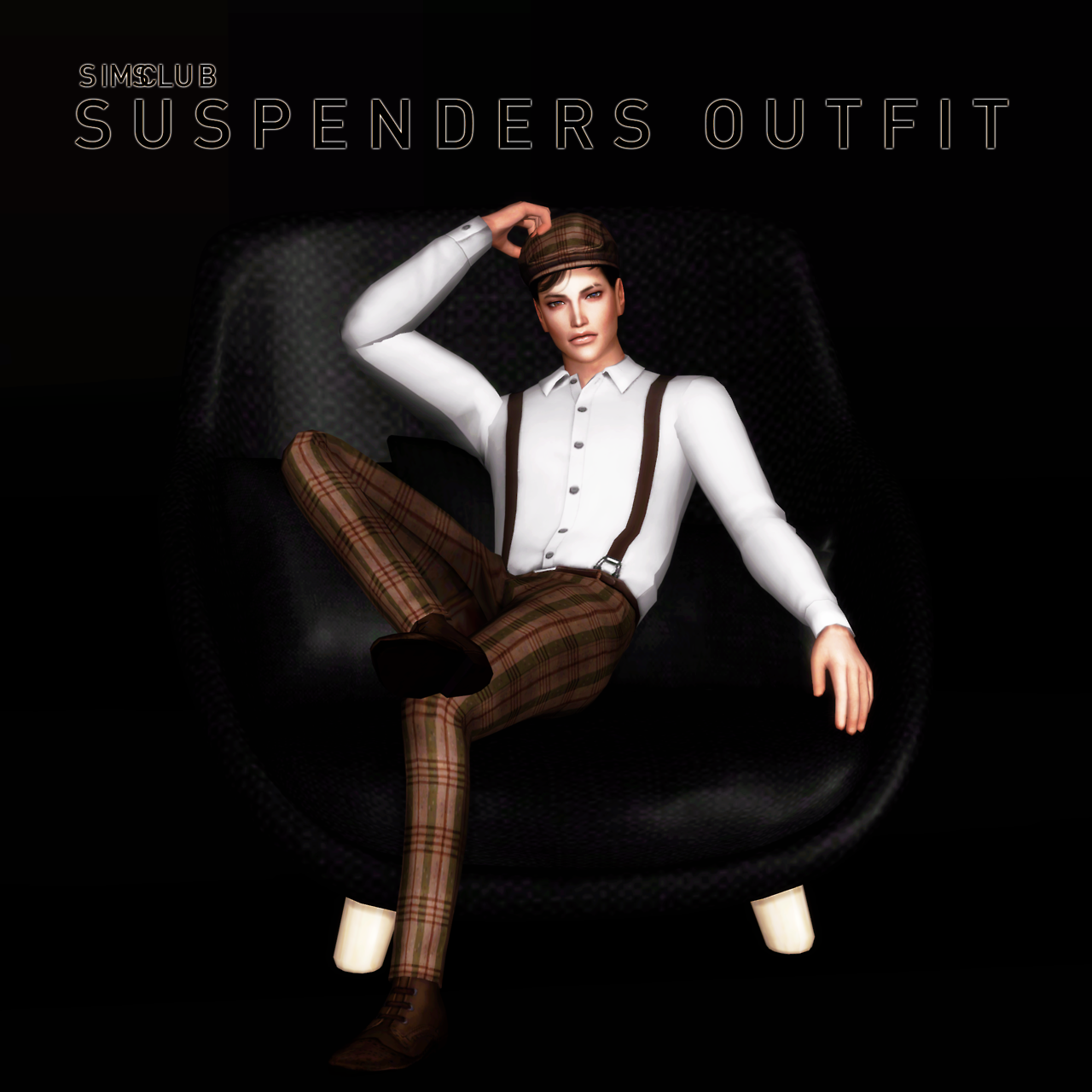 Suspenders Outfit by sim-ent