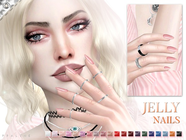 Jelly Nails N19 by Pralinesims