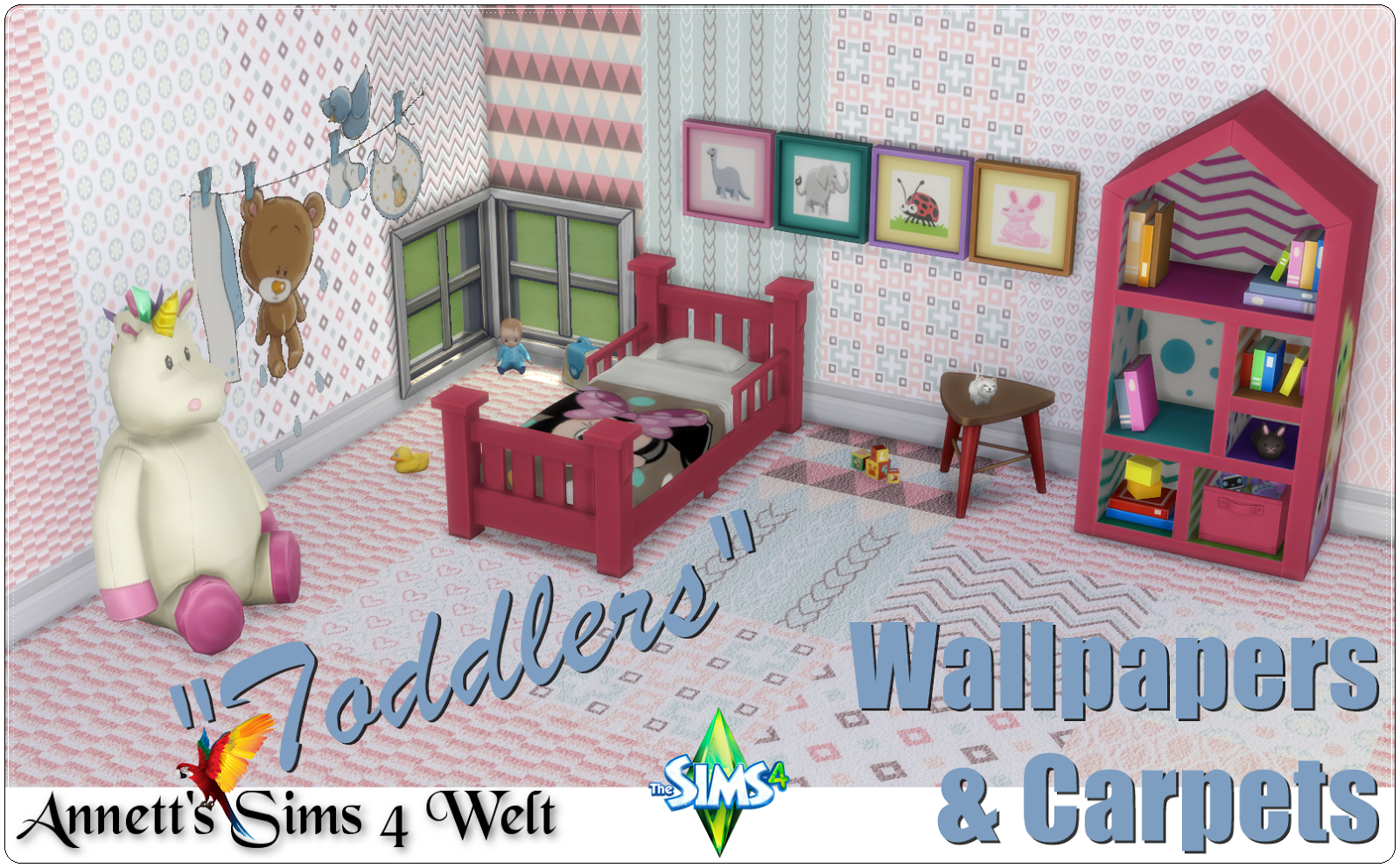 "Wallpapers & Carpets ""Toddlers"" by Annett85"