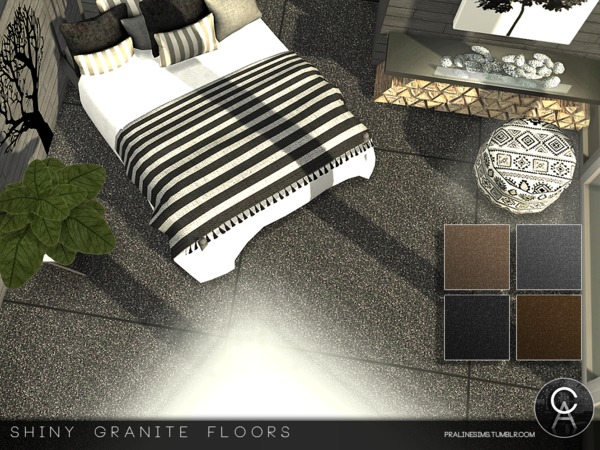 Shiny Granite Floors by Pralinesims