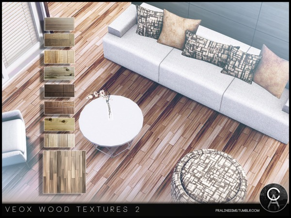 VEOX Wood Textures 2 by Pralinesims