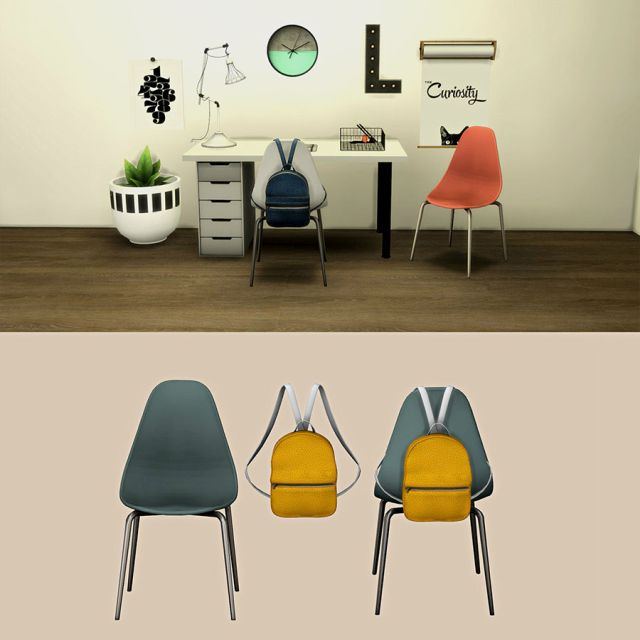 Roma Desk Chair and Bag by Leo-Sims