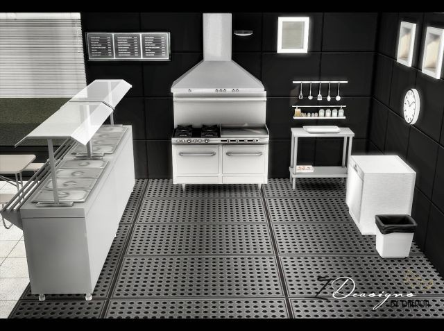 BW School Kitchen Stuff (New Meshes) by Daer0n