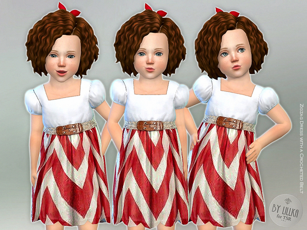 Zigzag Dress with a Crocheted Belt by lillka