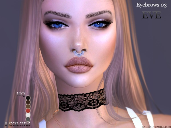 Eyebrows03 EVE by ANGISSI