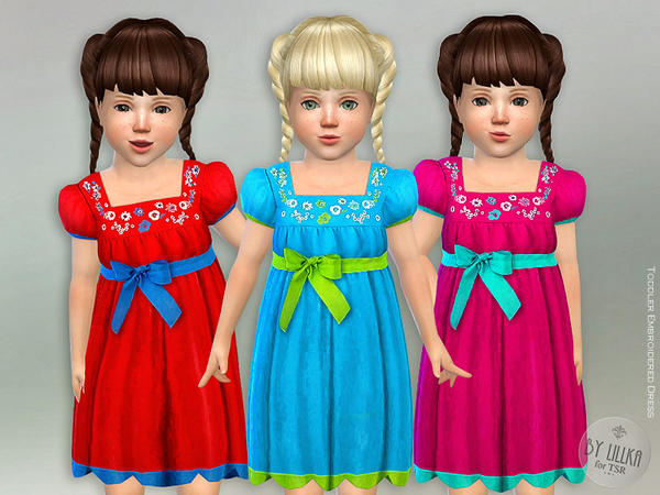 Toddler Embroidered Dress by lillka