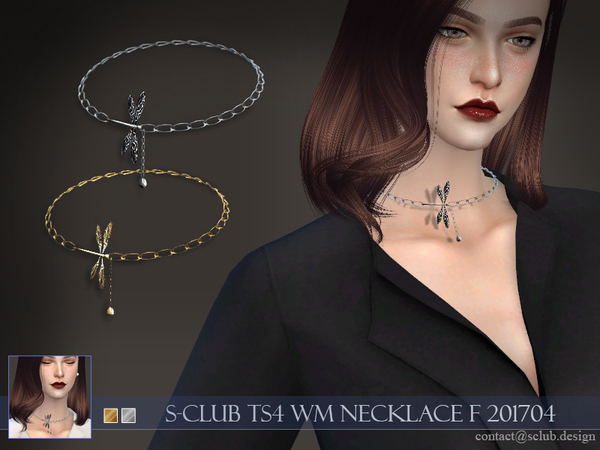 S-Club ts4 WM necklace F 201704