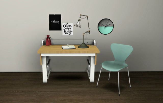 Sund Desk and Cage Lamp by leo-sims