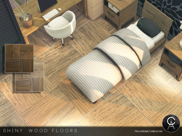 Shiny Wood Floors by Pralinesims