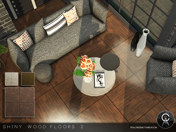 Shiny Wood Floors 2 by Pralinesims