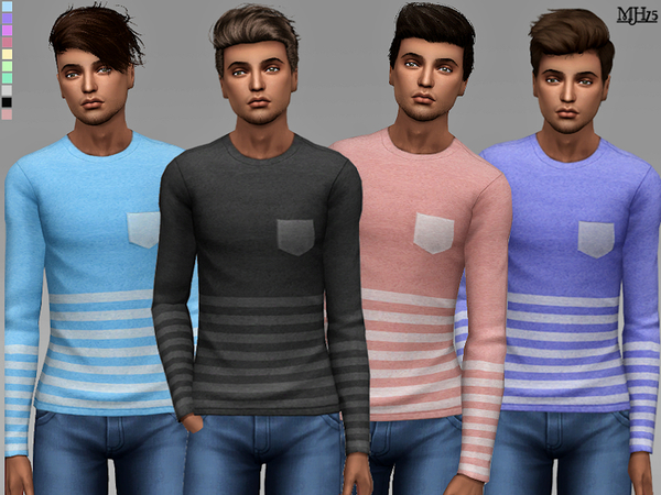S4 Like Stripes Tops [Male] by Margeh-75