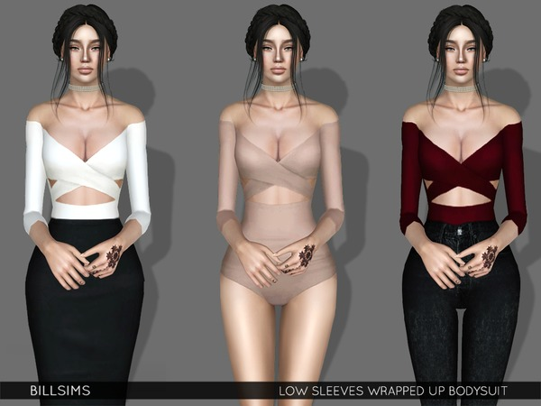 Low Sleeves Wrapped Up Bodysuit by Bill Sims