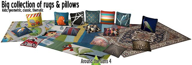 Big collection of rugs & pillows by Sandy