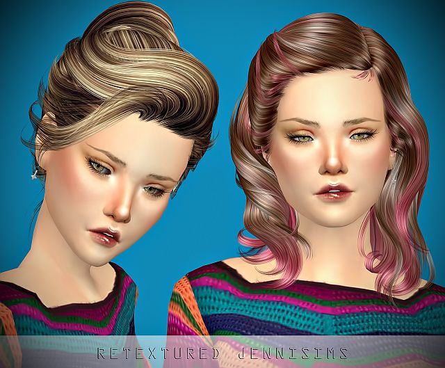 Newsea Sandra and Newsea Uproar Hairs retextures by JenniSims