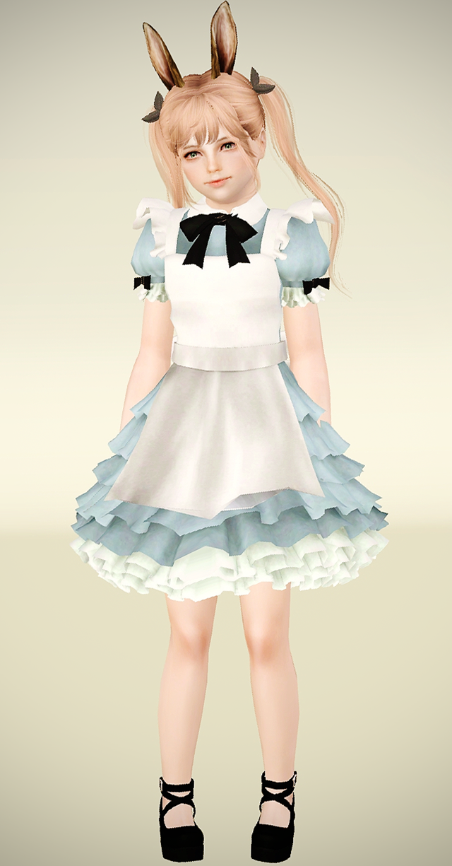 Elin alice dress and lolita shoes for children by Aspettamisims