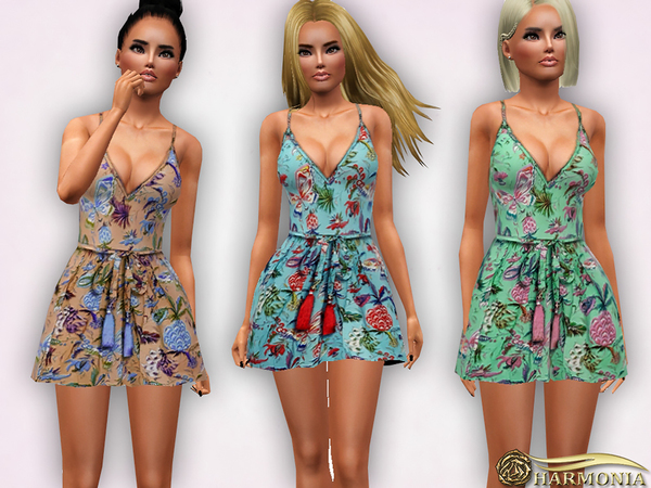 Strappy Floral Skater Dress by Harmonia