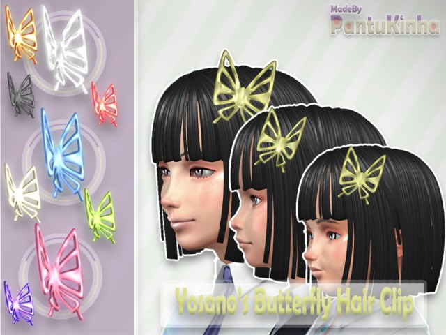 Yosano's Butterfly Hair Clip for All Ages By PantuKinha