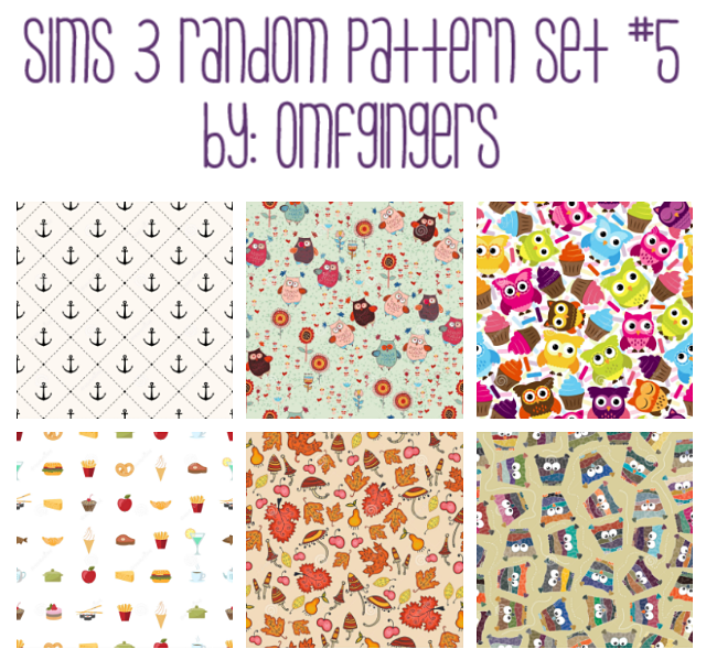 PATTERNS R5 & PATTERNS R8 by Omfgingers