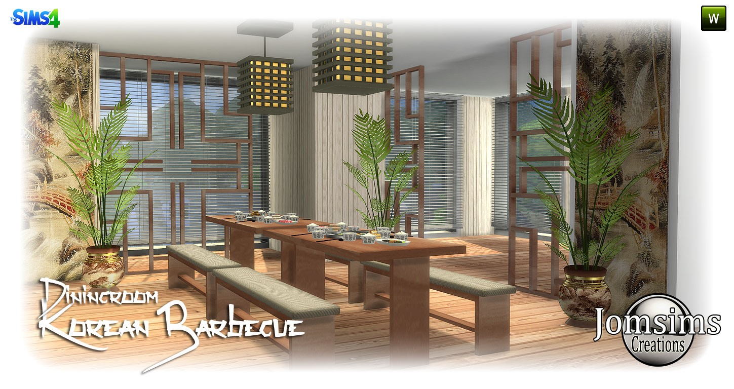 Korean barbecue diningroom by JomSims