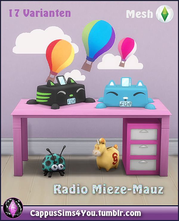 Mieze-Mauz radio by CappusSims4You