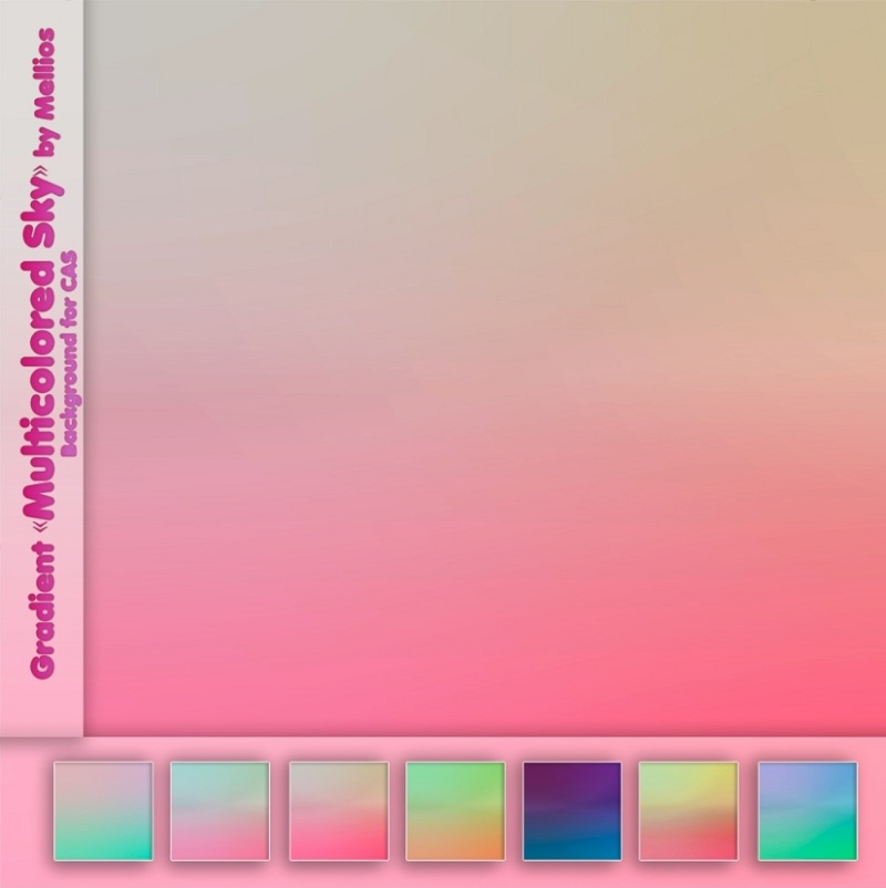 "Background Gradient ""Multicolored Sky"" by Mellios"