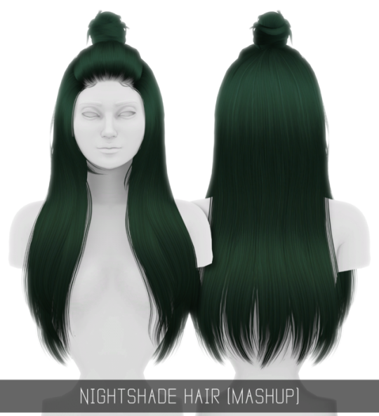 NIGHTSHADE HAIR (MASHUP) by Simpliciaty