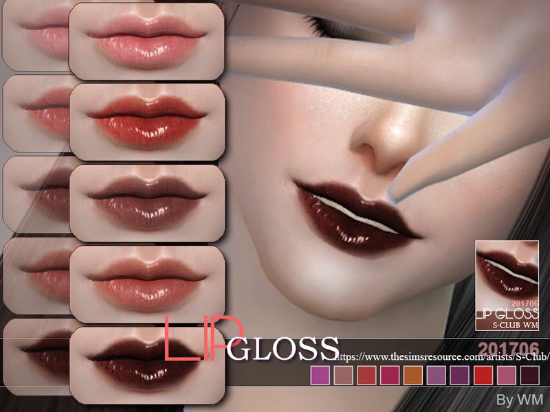 WM ts4 Lipgloss 201706 by S-Club