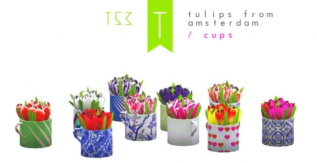 Tulips in cup by Trutje