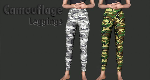 Camouflage Leggings by IfcaSims