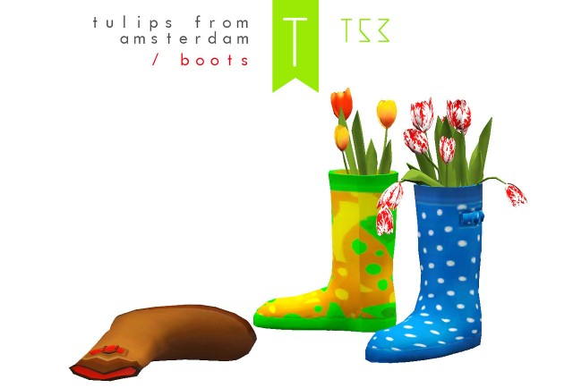 Tulips from Amsterdam Boots by Trutje