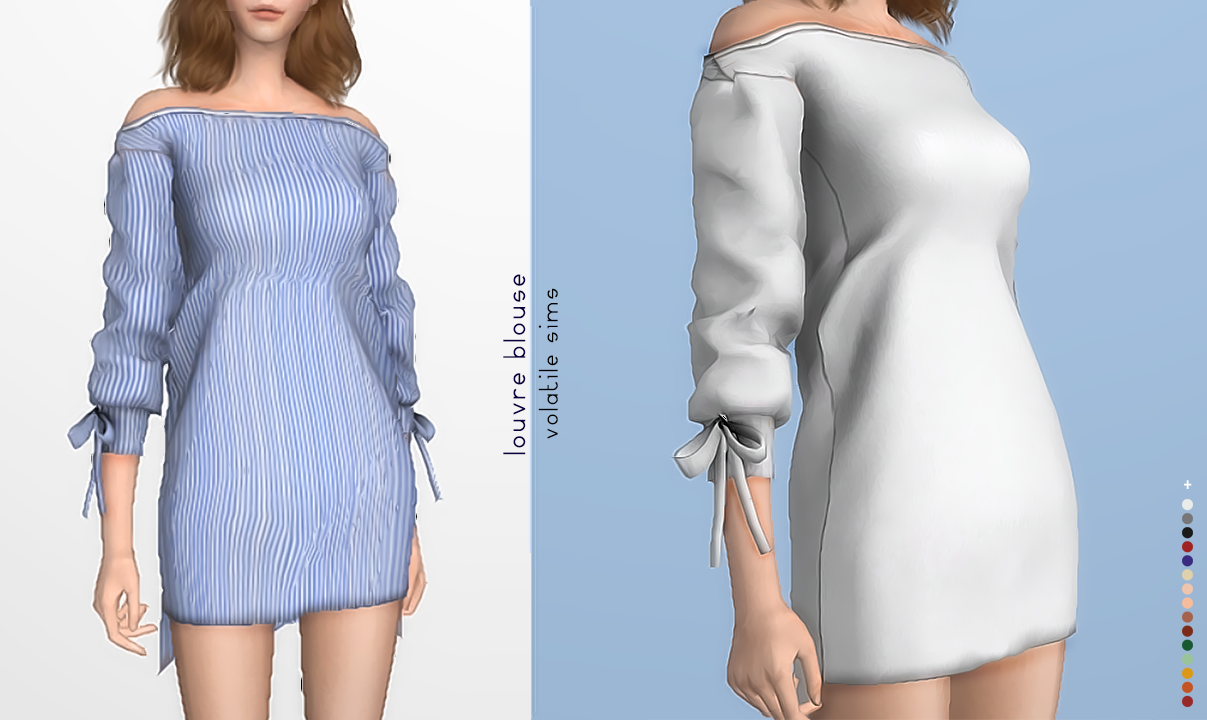 Louvre Blouse by volatile-sims