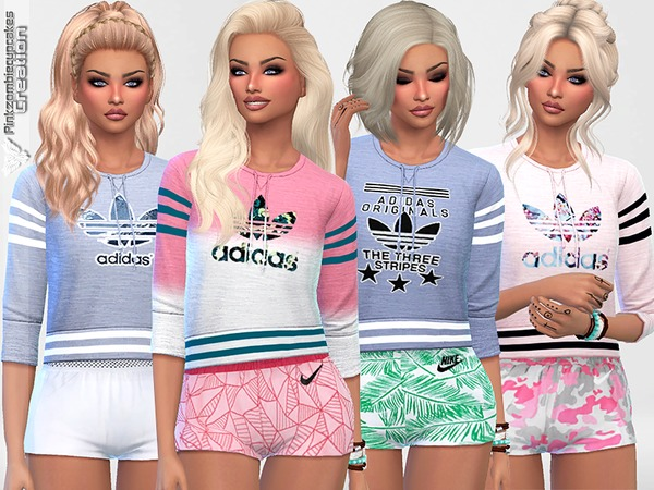 Athletic Adidas Sweatshirts Collection Recolor 1 by Pinkzombiecupcakes