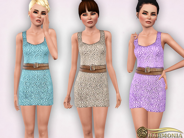 TEEN ~ Crocheted Cotton-Blend Dress by Harmonia