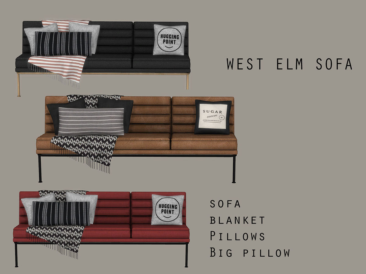West Elm Sofa by Leo 4 Sims