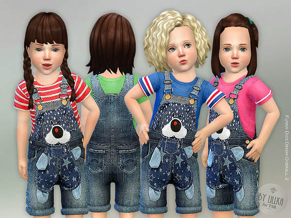Funny Dog Denim Overall 2 by lillka