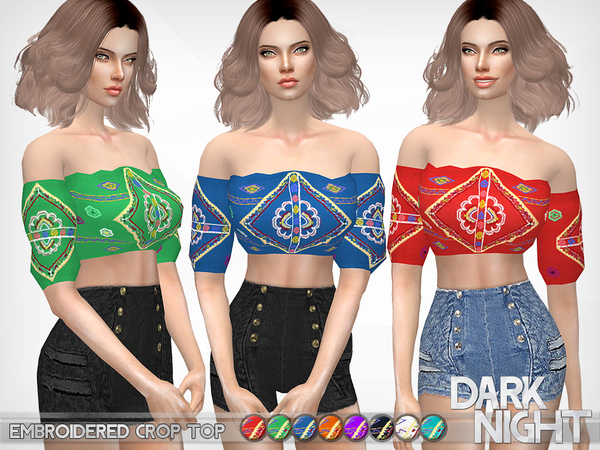 Embroidered Crop Top by DarkNighTt