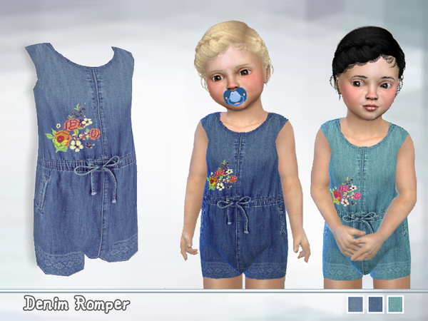Toddler Denim Romper by Puresim