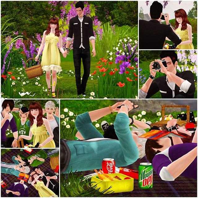 Picnic Pose Pack by Fyachii