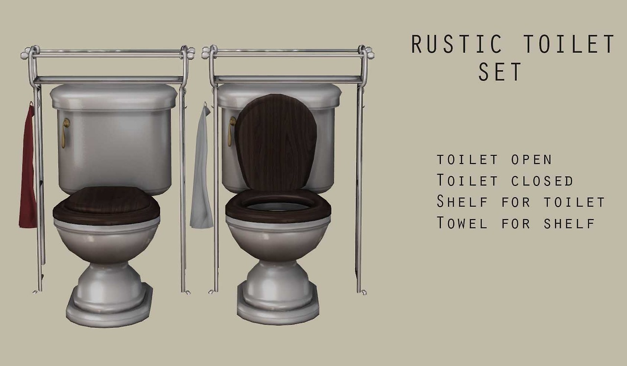 RusticToilet Set by Leo Sims